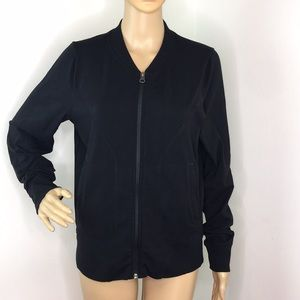 Athleta Zip Up Black Jacket